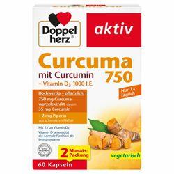 Doppelherz ® aktiv Curcuma 750 mit Curcumin + Vitamin D3 1000 I.E.