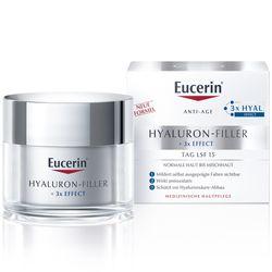 Eucerin® Hyaluron-Filler Tagespflege für normale bis Mischhaut + 100ml Eucerin® DermatoCLEAN 3in1 Reinigungsfluid GRATIS