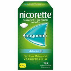 nicorette® Kaugummi 4 mg whitemint zur Raucherentwöhnung