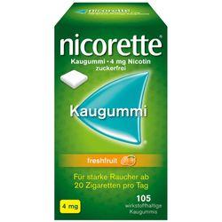 nicorette® Kaugummi freshfruit mit 4 mg Nikotin zur Raucherentwöhnung