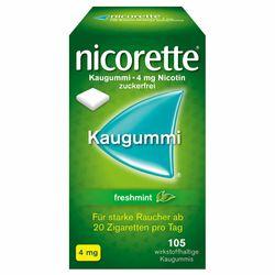 nicorette® Kaugummi freshmint mit 4 mg Nikotin zur Raucherentwöhnung