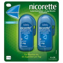 nicorette® Lutschtablette freshmint mit 2 mg Nikotin zur Raucherentwöhnung