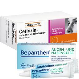 Allergie-Set Cetirizin-ratiopharm® + Bepanthen® Augen-und Nasensalbe