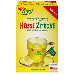 apoday® Heisse Zitrone Vitamin C und Calcium zuckerfrei Pulver