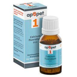 apopet® Schüßler Salz Nr. 1 Calcium fluoratum D12 ad us. vet.