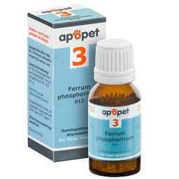apopet® Schüßler Salz Nr. 3 Ferrum phosphoricum D12 ad us. vet.