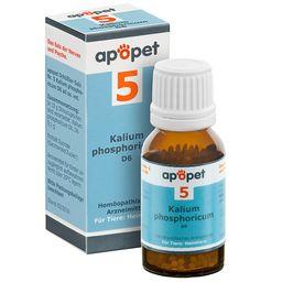 apopet® Schüßler Salz Nr. 5 Kalium phosphoricum D6 ad us. vet.