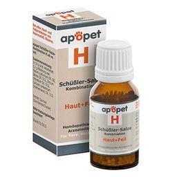apopet® Schüßler-Salze-Kombination H ad us. vet. – Haut und Fell