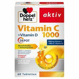 Doppelherz® aktiv Vitamin C 1000 +Vitamin D DEPOT