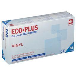 Eco-Plus Vinyl Handschuhe Gr. M unsteril puderfrei weiß