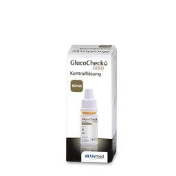GlucoChek GOLD Kontrolllösung mittel