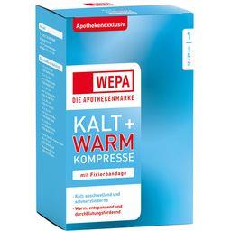 Kalt-Warm Kompresse 12 x 29cm mit Fixierband