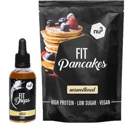 nu3 Fit Pancakes, ungesüßt + nu3 Fit Drops, Vanille