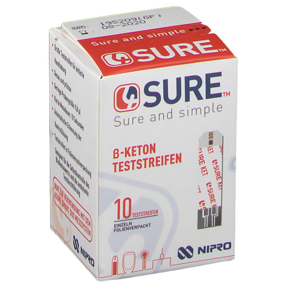 4SURE β-Keton Teststreifen