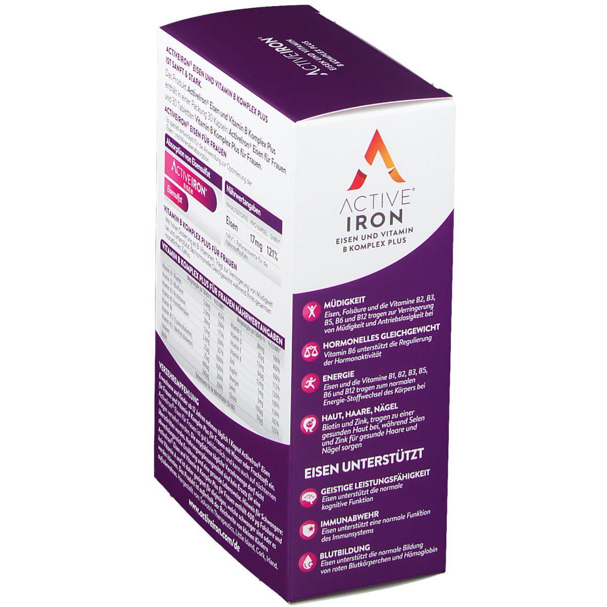 ActiveIron® Eisen und Vitamin B Komplex Plus