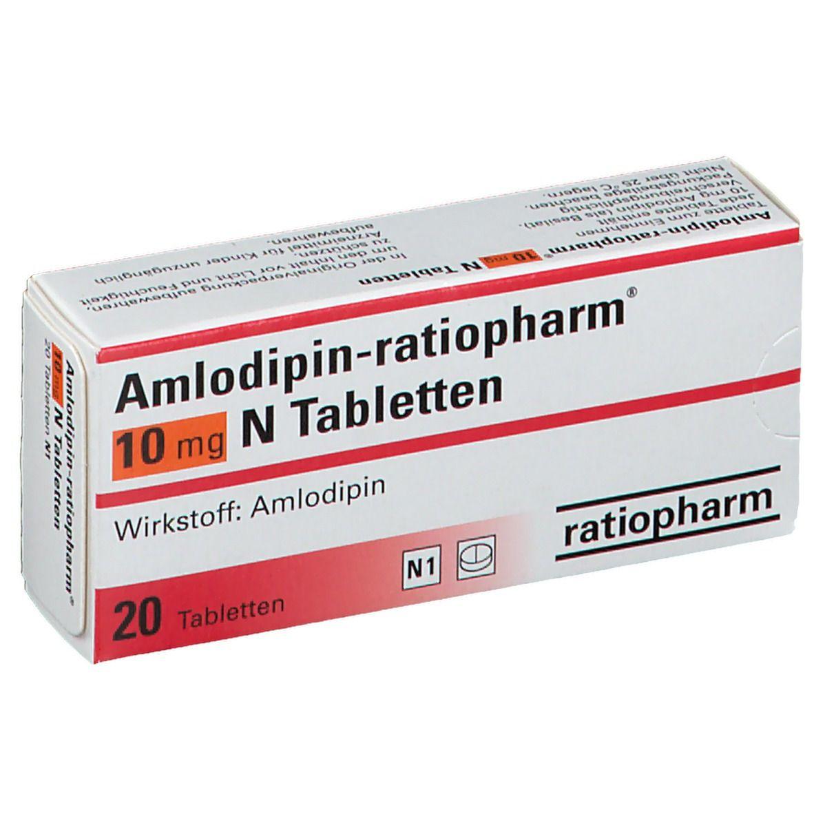 AMLODIPIN ratiopharm 10 mg N Tabletten