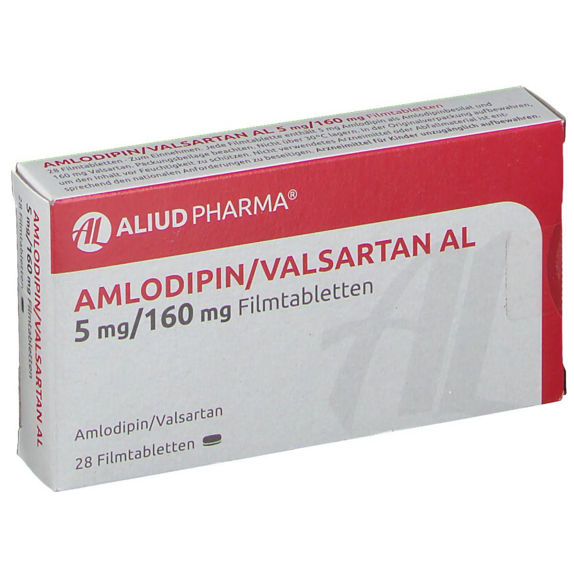 AMLODIPIN/Valsartan AL 5 mg/160 mg Filmtabletten