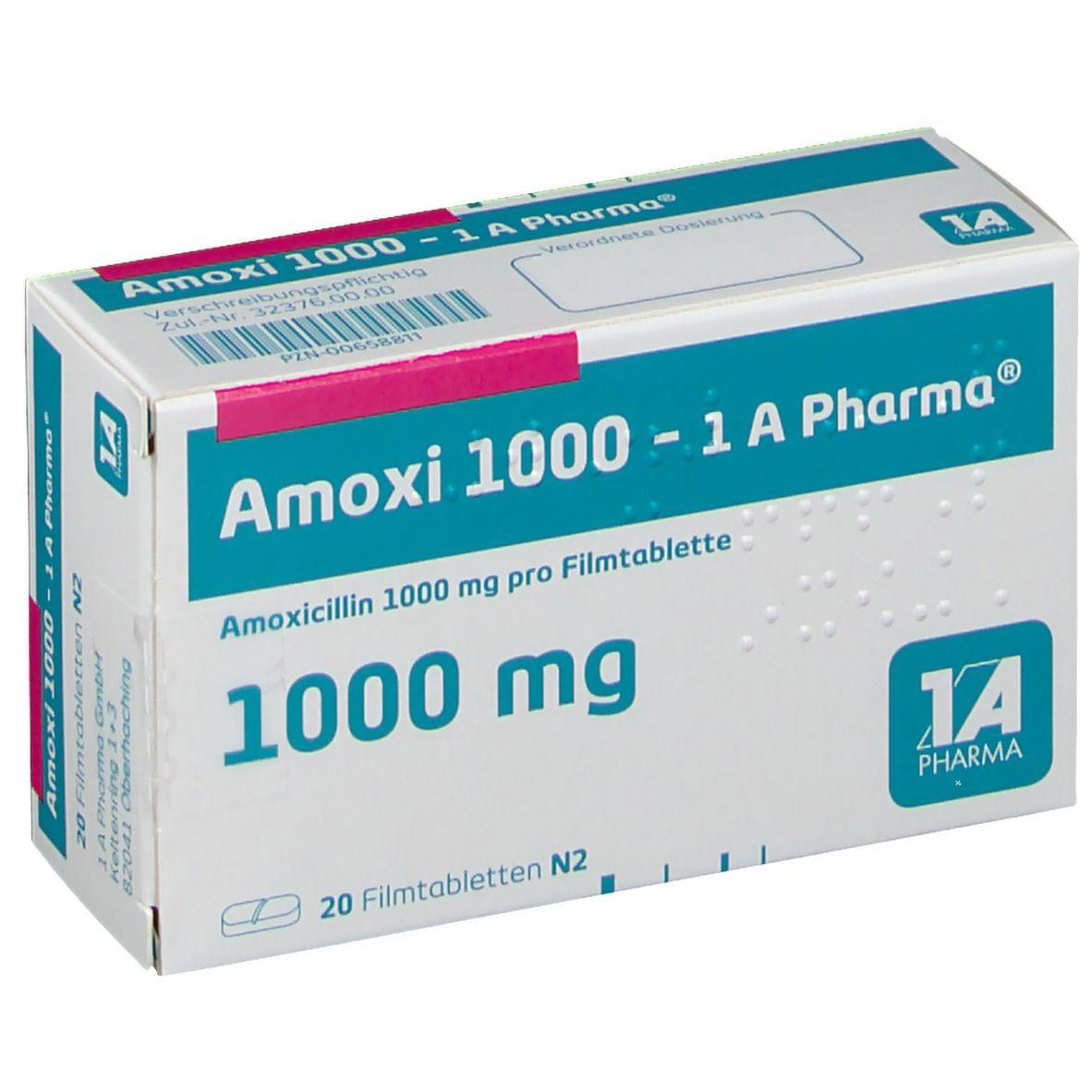 Amoxi 1000 1a Pharma Filmtabletten