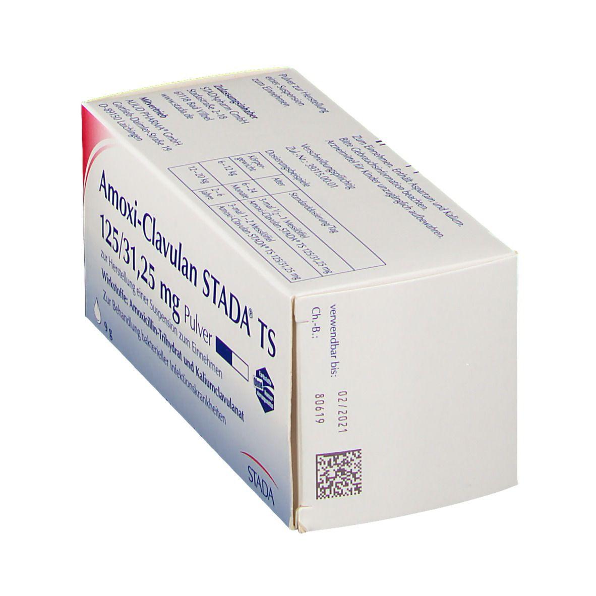 Amoxi Clavulan Stada® TS 125/31,25