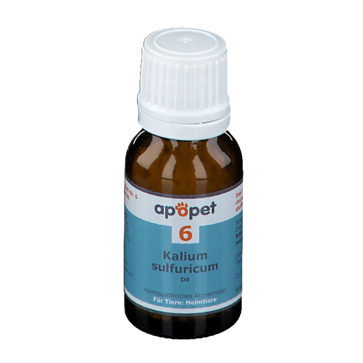 apopet® Schüßler Salz Nr. 6 Kalium sulfuricum D6 ad us. vet.