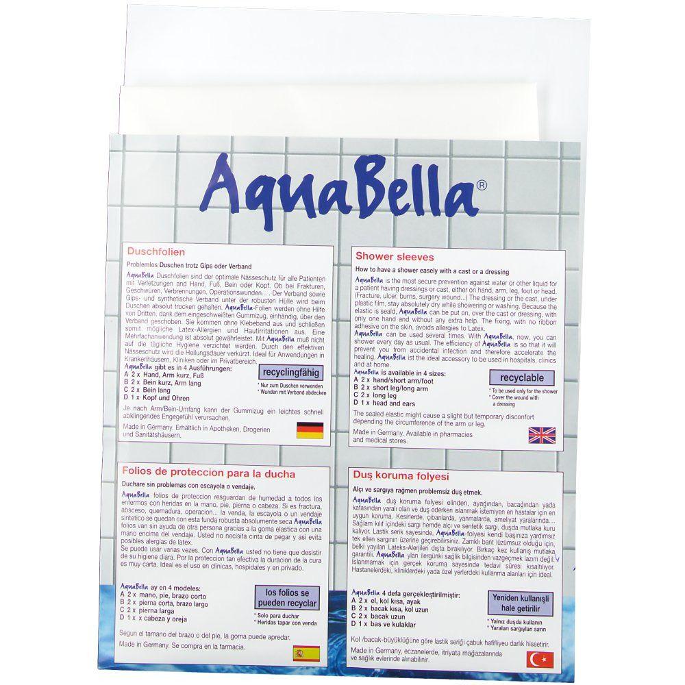 AquaBella® Duschfolie A für Hand,Fuß oder Arm kurz 195 x 480 mm