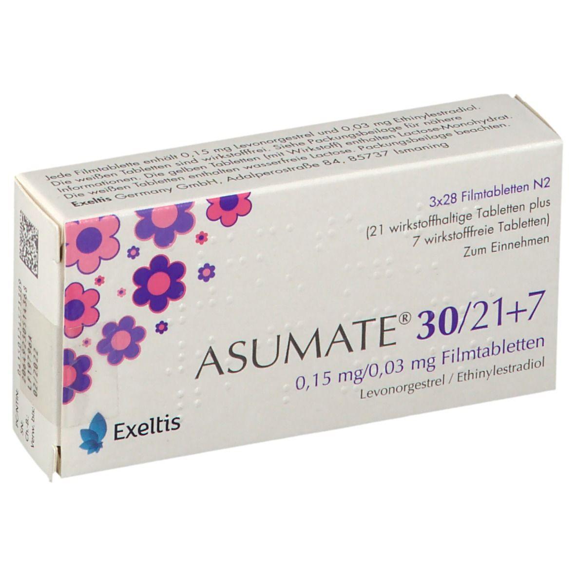 ASUMATE 30/21+7 0,15 mg/0,03 mg Filmtabletten 84 St - shop