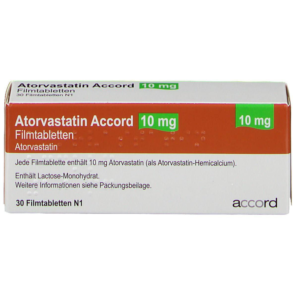 ATORVASTATIN Accord 10 mg Filmtabletten