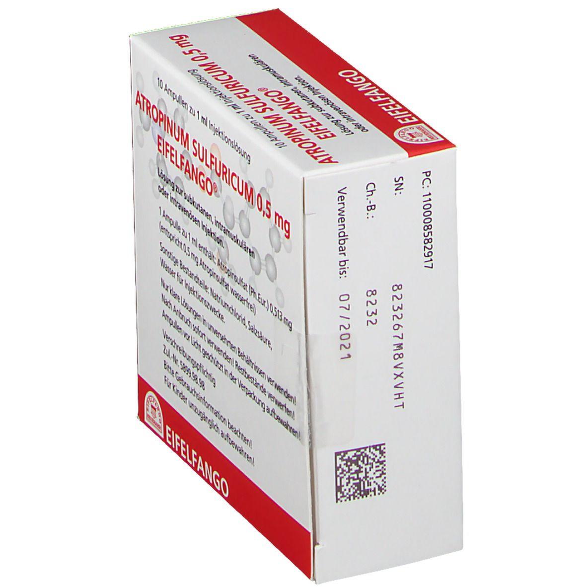 Atropinum Sulfuricum 0,5 mg Amp.