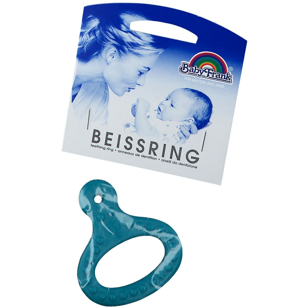 Baby-Frank® Beissring mit Griff mint