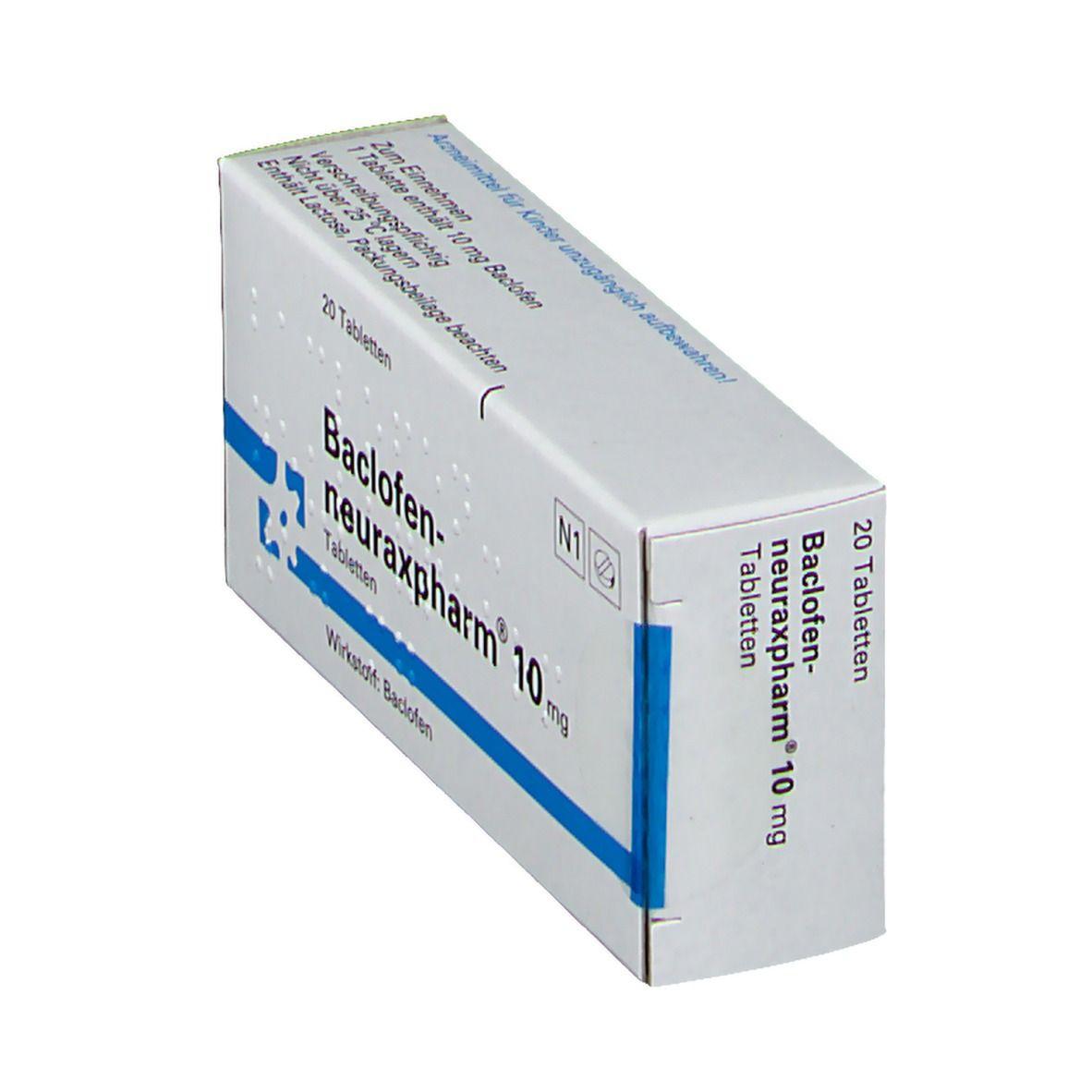 BACLOFEN neuraxpharm 10 mg Tabletten
