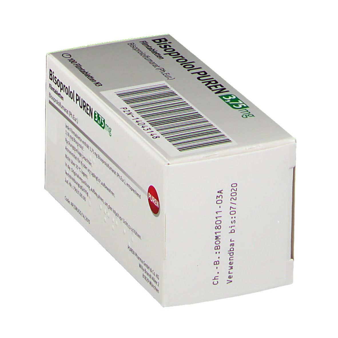 BISOPROLOL PUREN 3,75 mg Filmtabletten