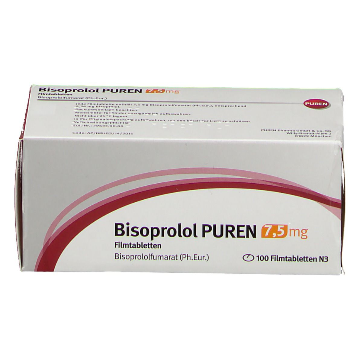 BISOPROLOL PUREN 7,5 mg Filmtabletten