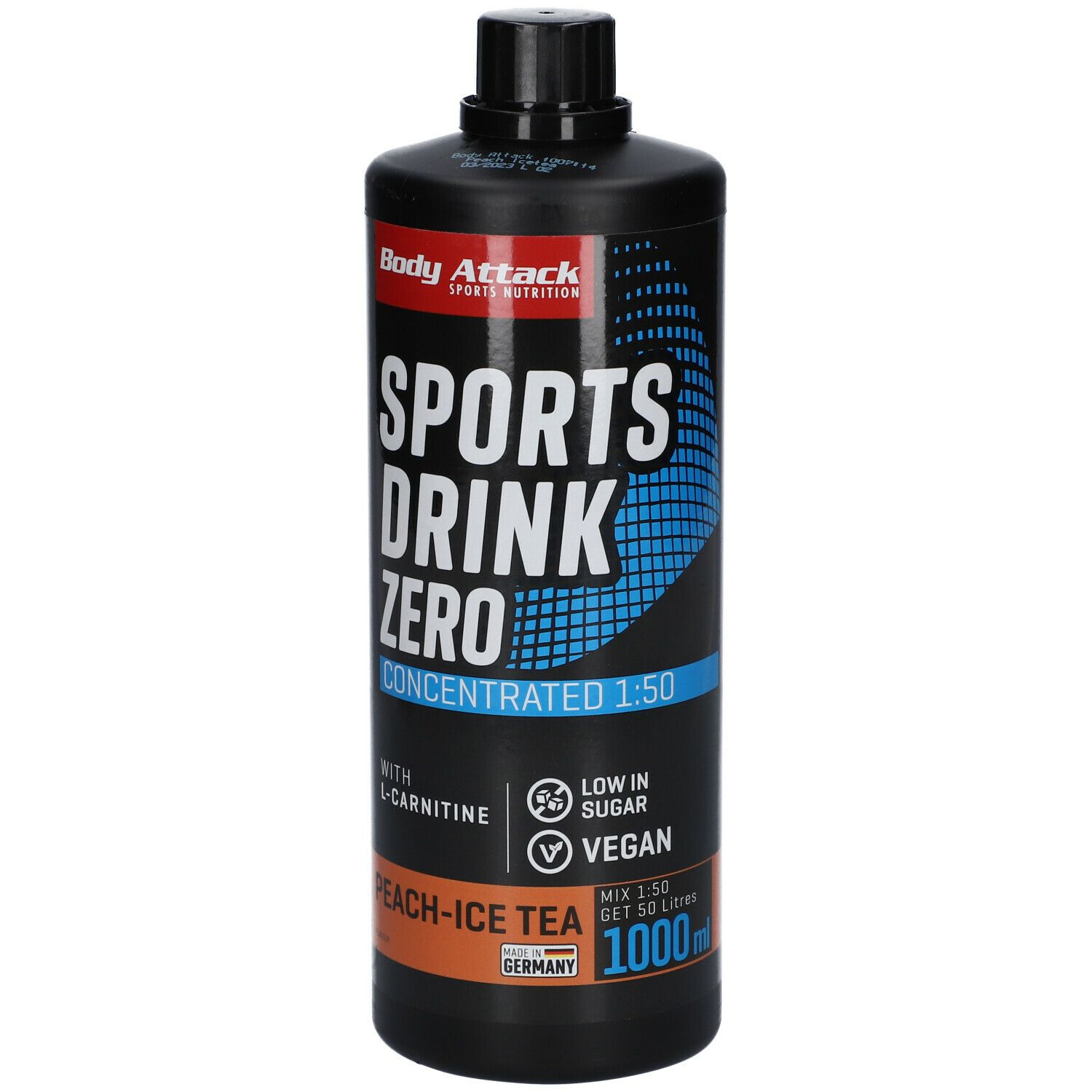 Body Attack LOW CARB® Sports Drink peach-Icetea