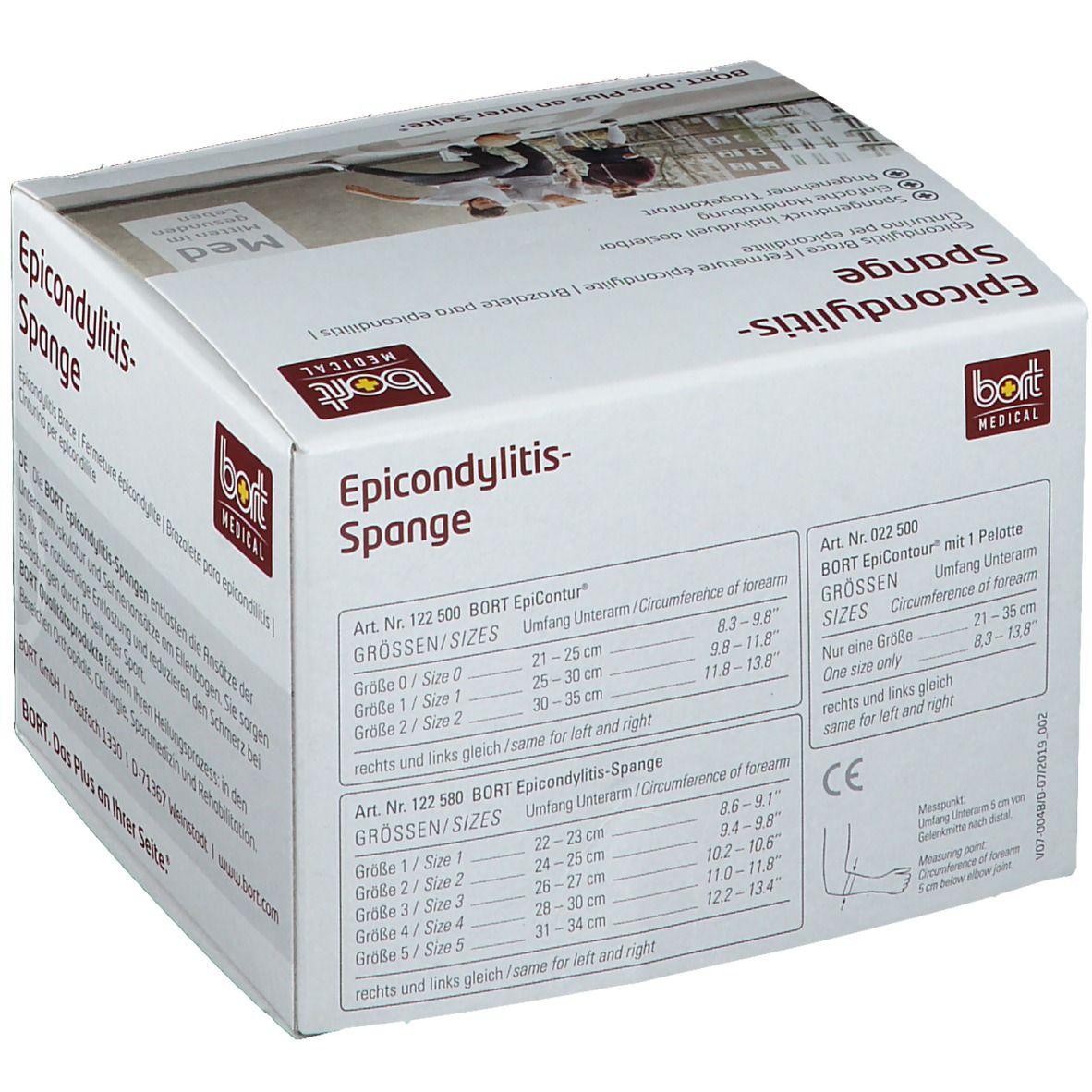 BORT Stabilo® Epicondylitis-Spange mit ulnarer Entlastung Gr. 1 grau