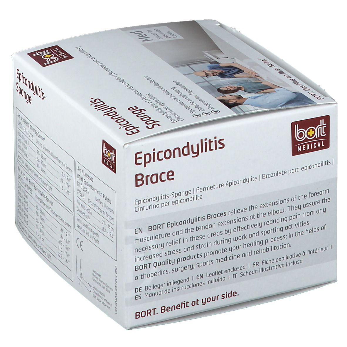BORT Stabilo® Epicondylitis-Spange mit ulnarer Entlastung Gr. 2 grau