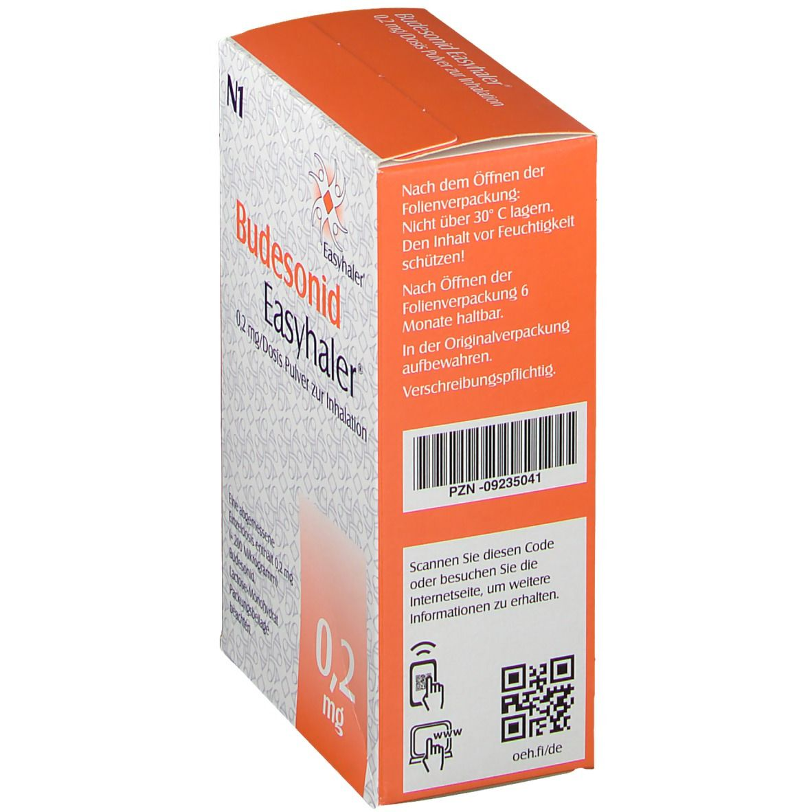 BUDESONID Easyhaler 0,2 mg 120 Hub Inhalationsplv.