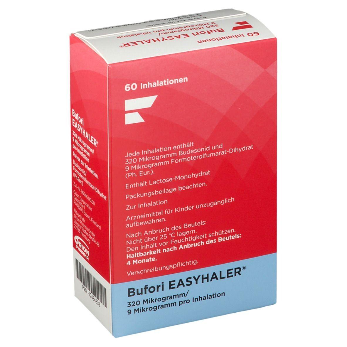 BUFORI Easyhaler 320/9 µg/Dosis 60 ED