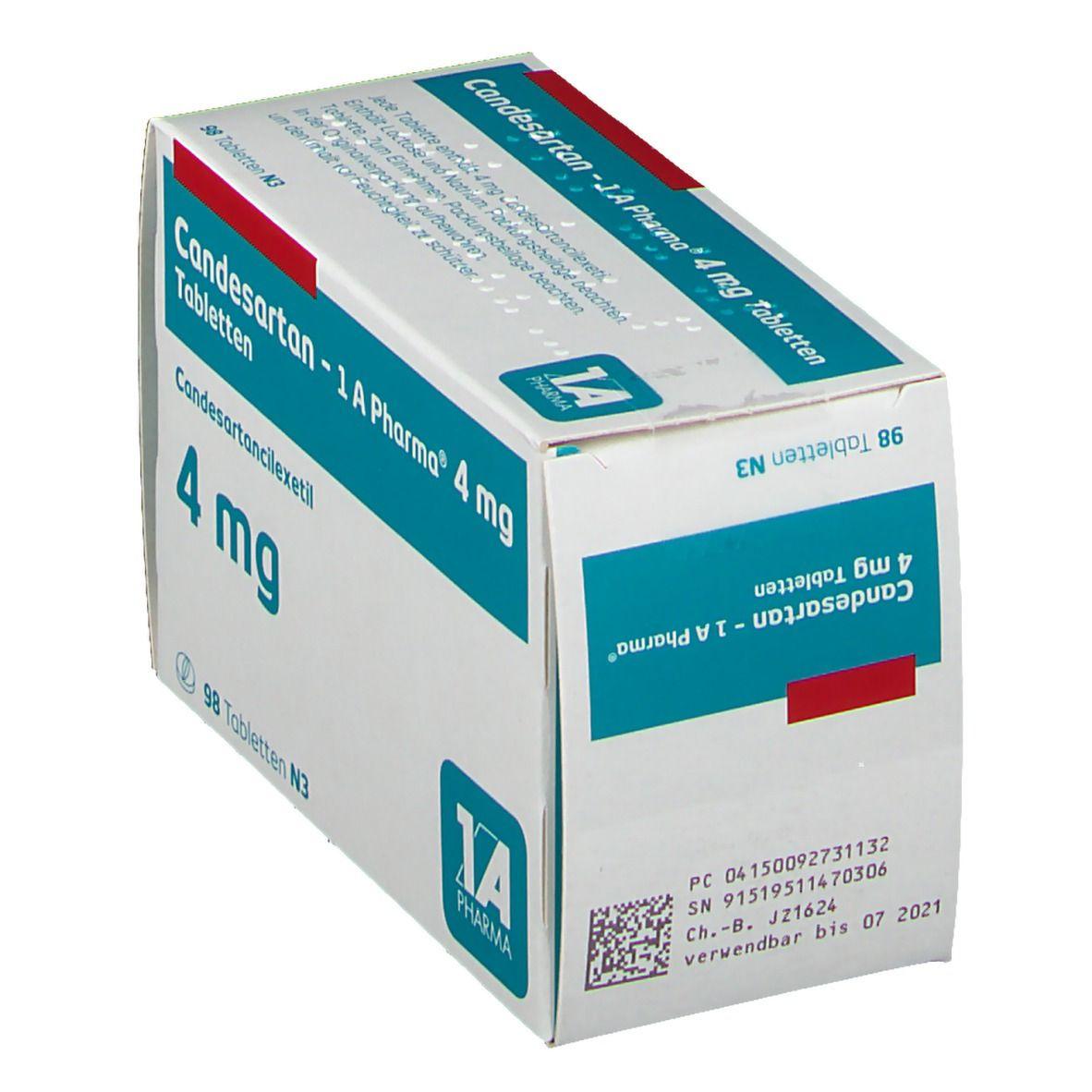 CANDESARTAN 1A Pharma 4 mg Tabletten