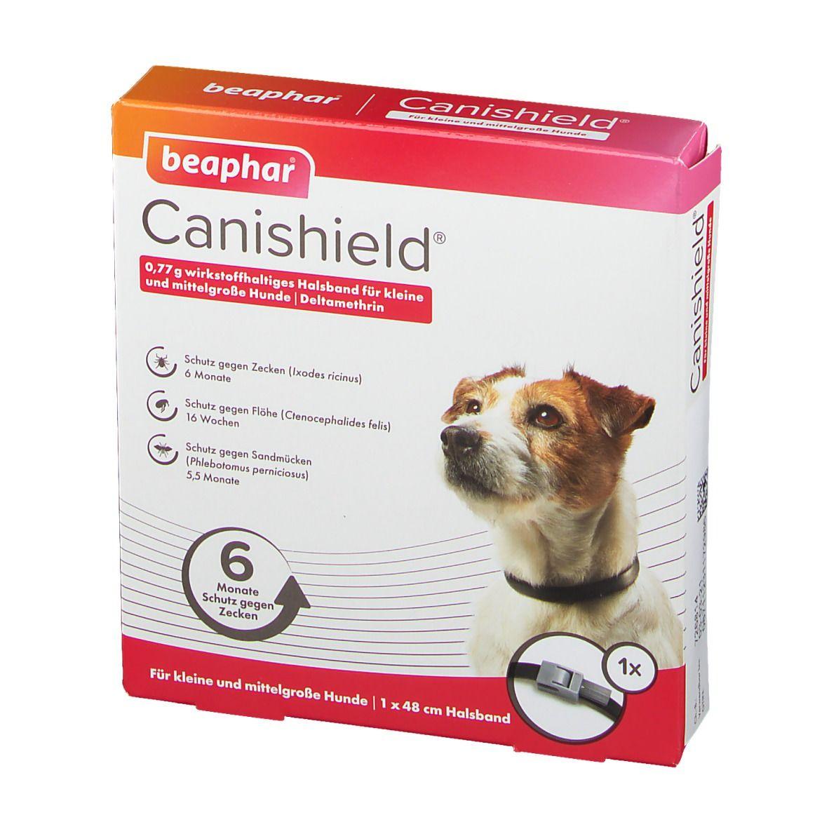 Canishield® 0,77 g wirkstoffhaltiges Halsband für kleine und mittelgroße Hunde