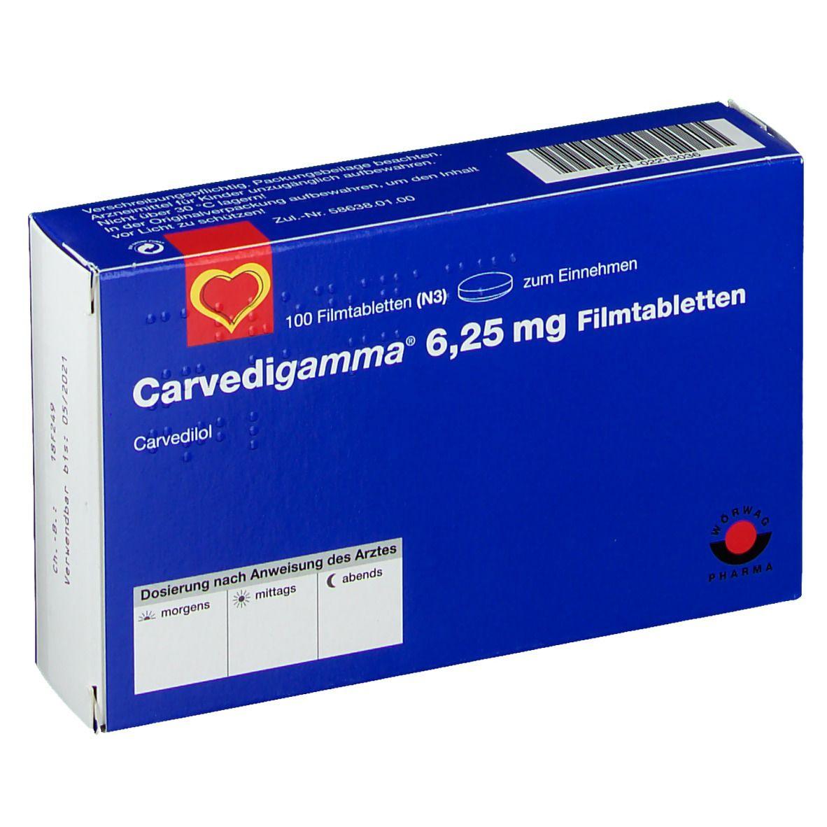 Carvedigamma 6,25 mg Filmtabl.