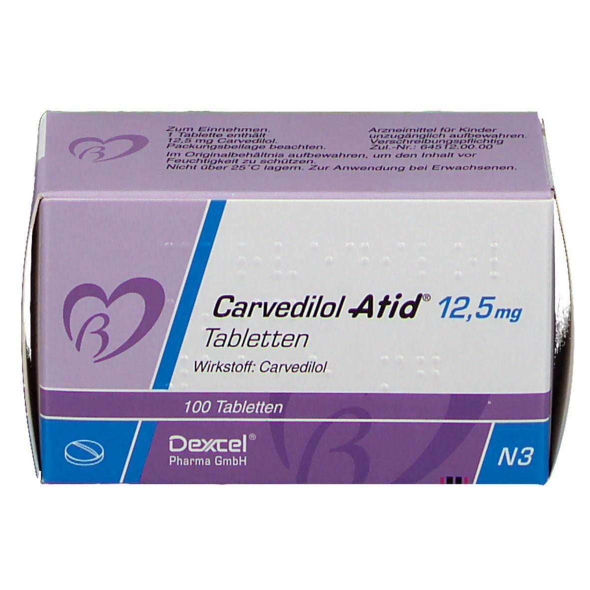 CARVEDILOL Atid 12,5 mg Tabletten