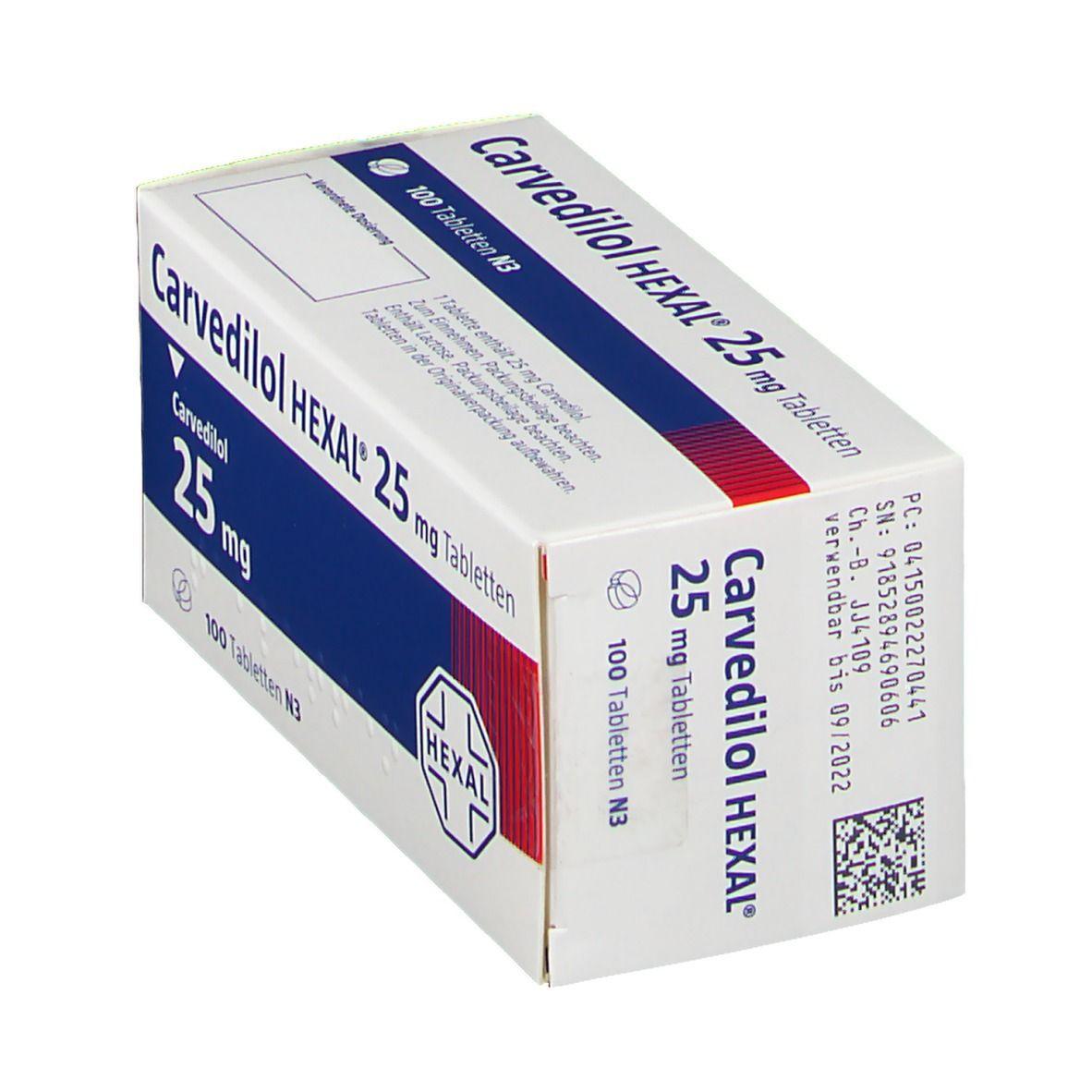 Carvedilol HEXAL® 25 mg