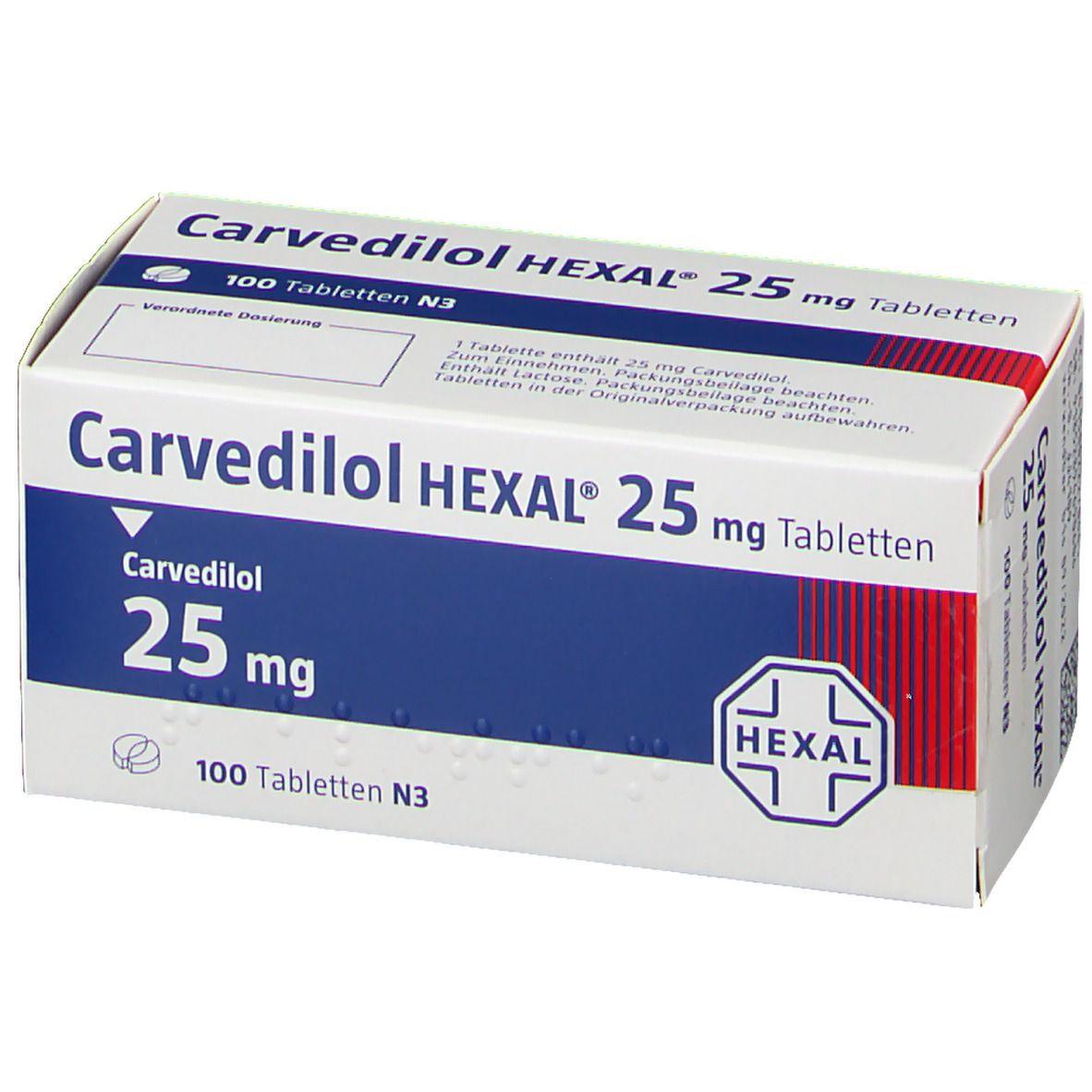 Carvedilol HEXAL® 25 mg Tabletten