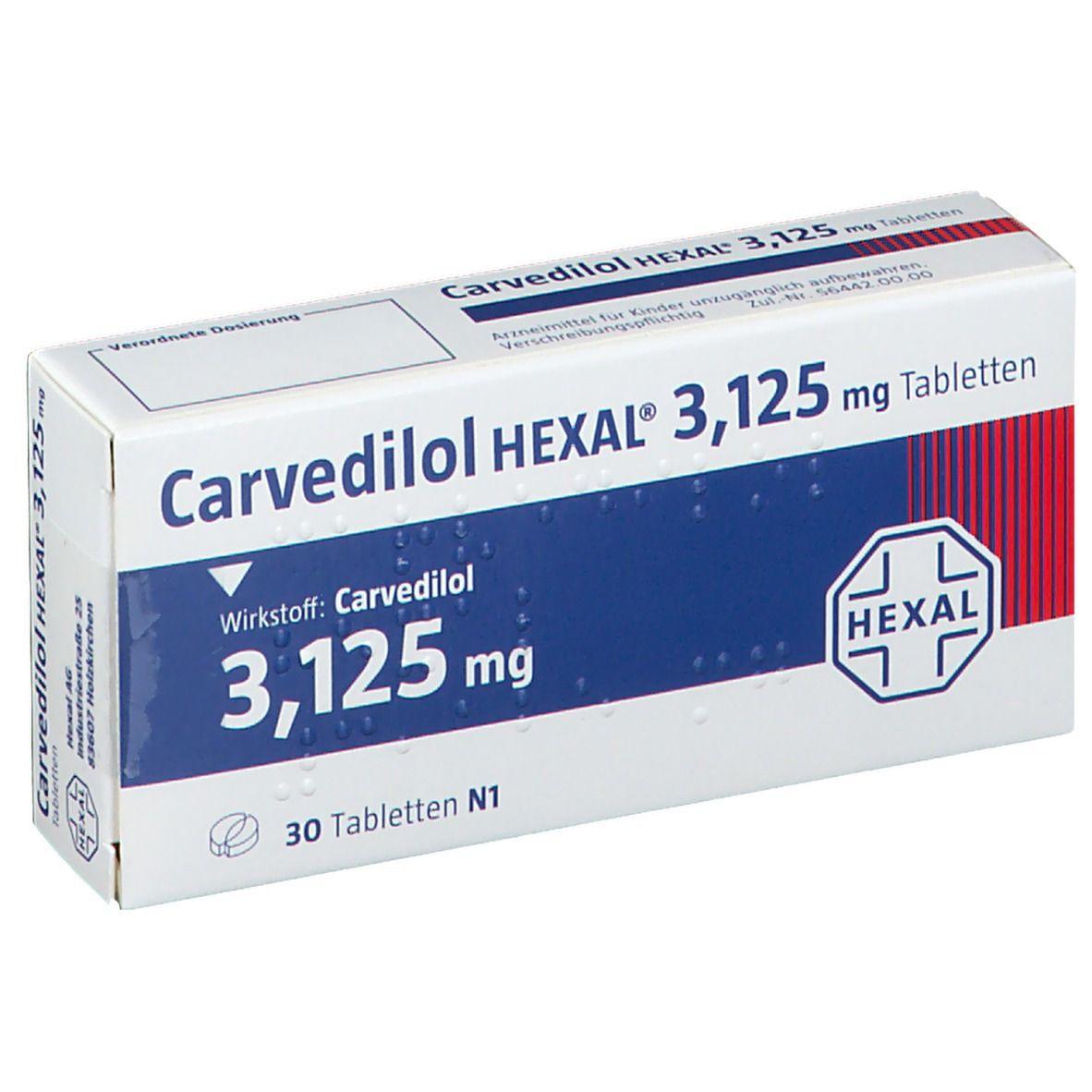 Carvedilol HEXAL® 3,125 mg Tabletten