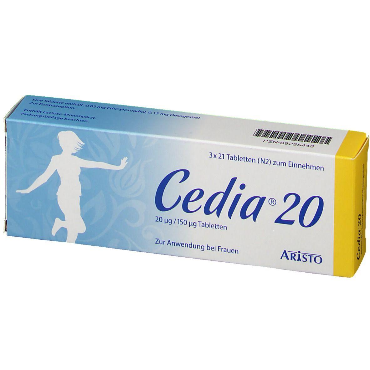 CEDIA 20 20 µg/150 µg Tabletten
