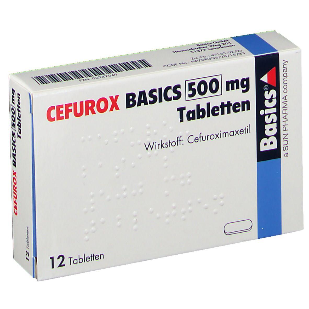 CEFUROX BASICS 500 mg Tabletten
