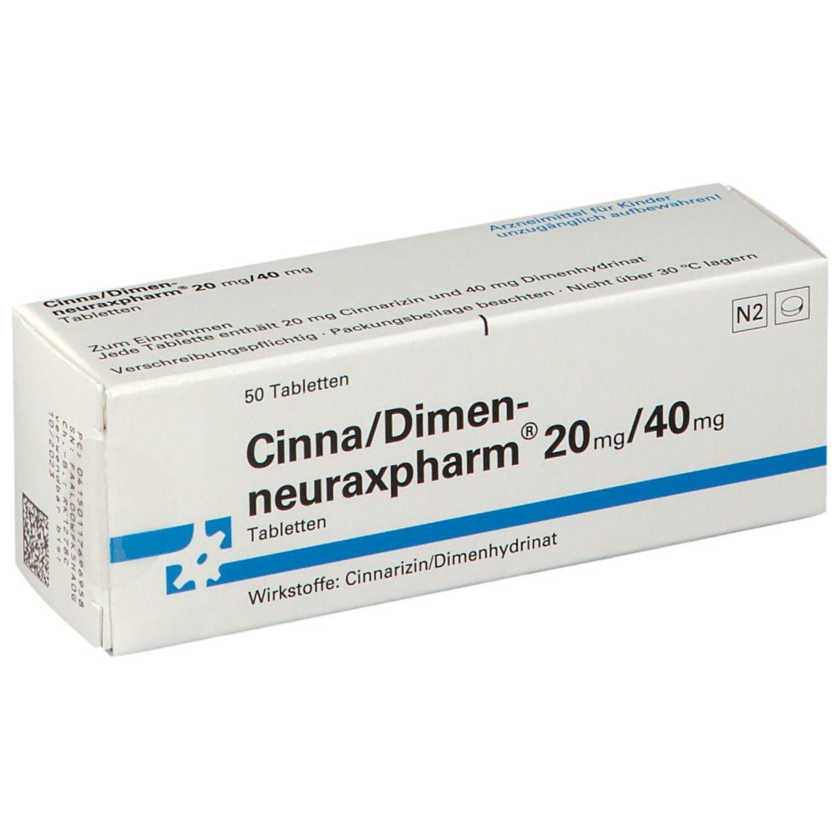 CINNA/DIMEN-neuraxpharm 20 mg/40 mg Tabletten