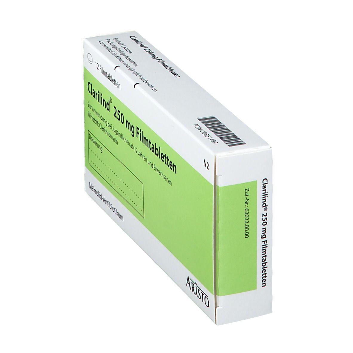 CLARILIND 250 mg Filmtabletten