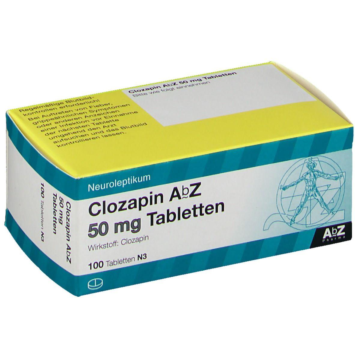 Clozapin AbZ 50 mg