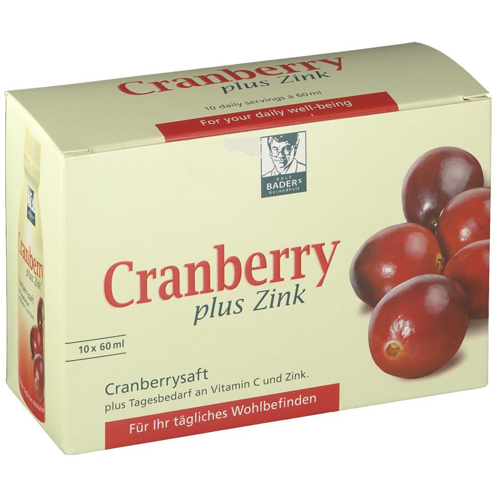 Cranberrysaft plus Zink